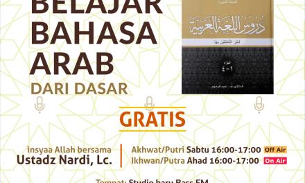 Gratis! Belajar Bahasa Arab Dasar