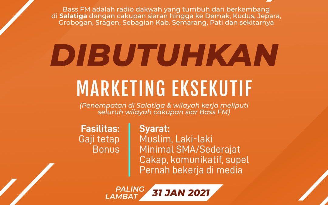 Lowongan Marketing Eksekutif