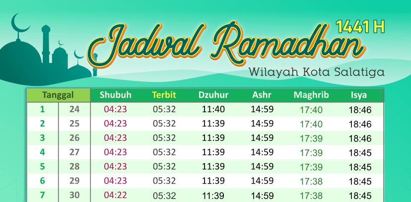 Jadwal Ramadhan Kota Salatiga 1441 H